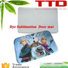 hot in France ,plain white dye Sublimation Door Floor Mat ,roll sublimation paper printing