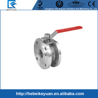 China Supply Stainless steel 316 1pc wafer Flanged Ball valve with good quality