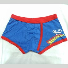 Supermen print young men sexy thick cotton boxer underwear