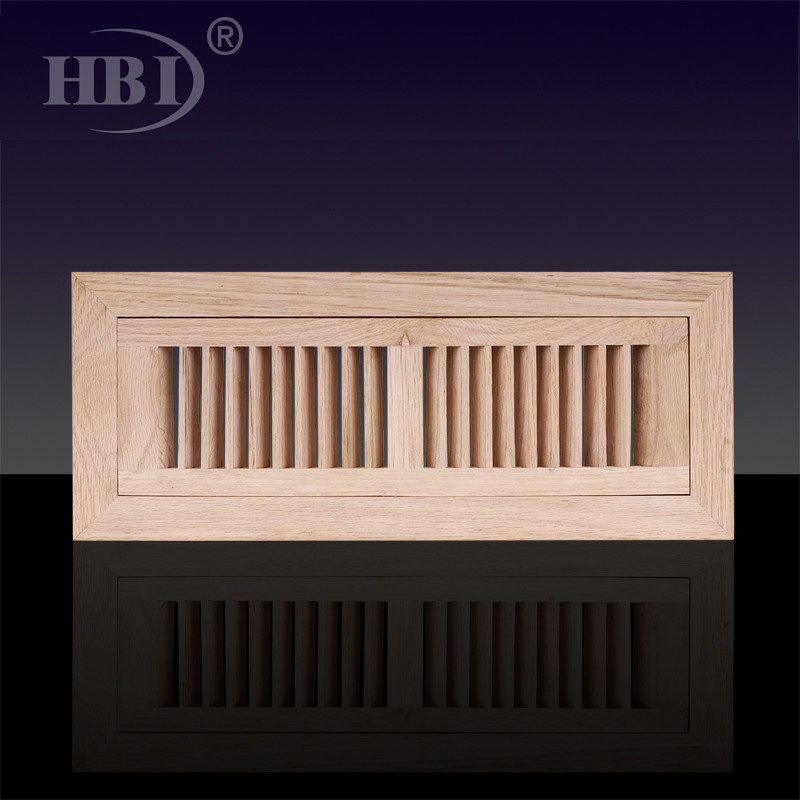 6X14 wooden air grill for floor Flush Mount