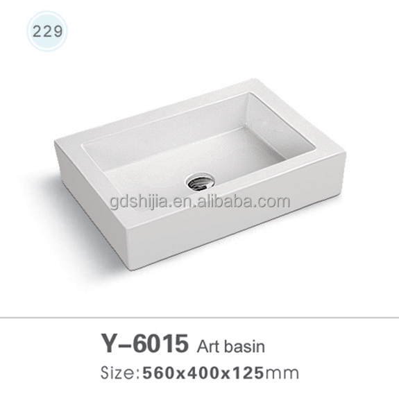 2014 No Tap Hole Italian Ceramic Wash Basin
