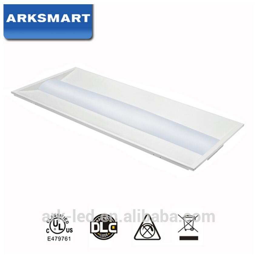 DLC UL led troffer 2x2 2x4 110lm/w 125lm/w LED dimmable led troffer fluorescent fixture