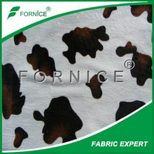 100% polyester single side super soft cow print fleece fabric