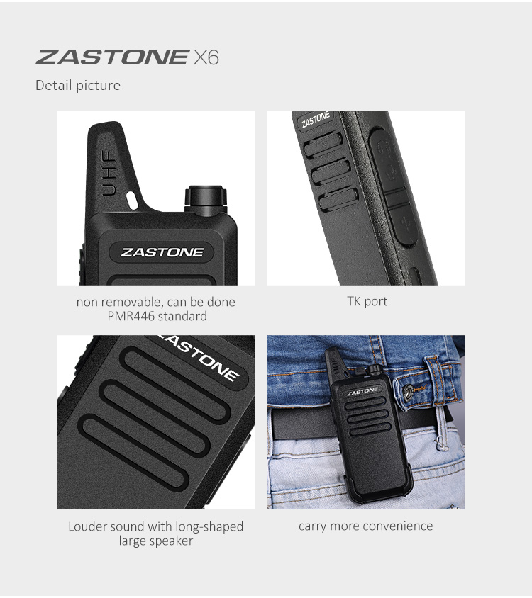 3 Watt professional walkie talkie,mini fashion shape zt x6 handheld walkie talkie
