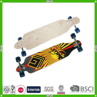 China made good quality maple longboard skateboard supplier