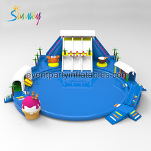 Inflatable Water Park Floating Water Games Giant Inflatable Water Play Park for Adults