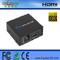 China supplier 1.4 version 1 in 2 out HDMI splitter with factory price