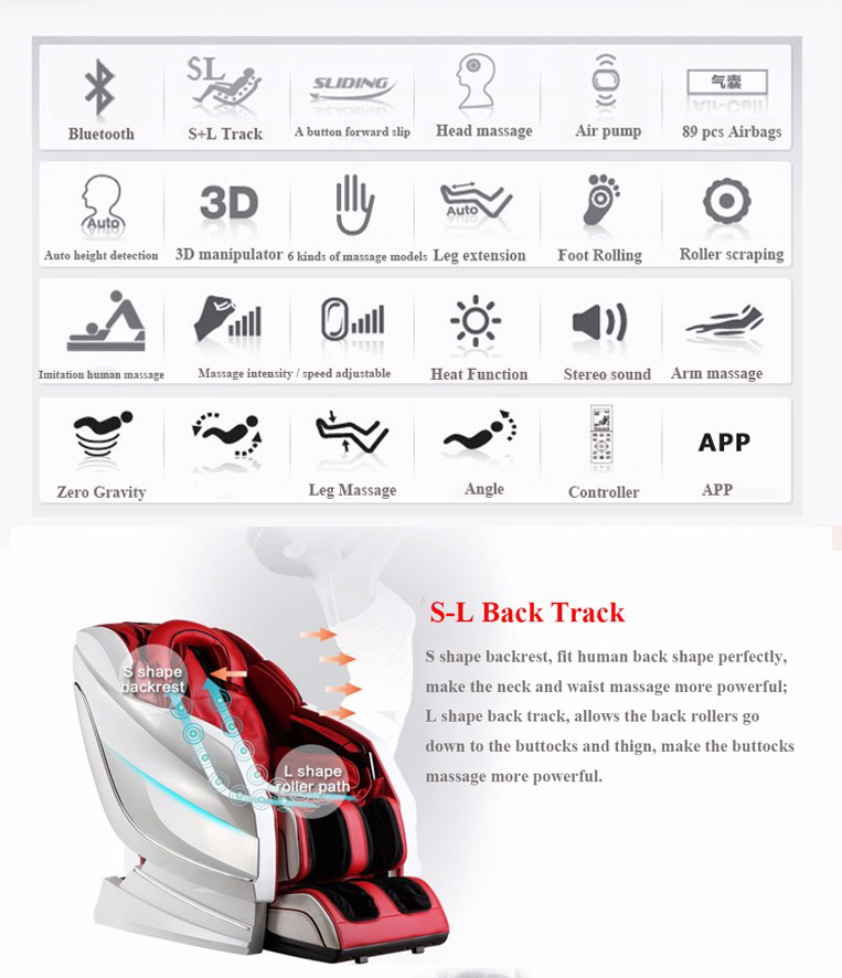 2018 New Modern Design 3D Full Body Shiatsu Massage Chair