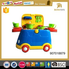 2 in 1 Fast Food Cars+Kitchen Sets for boys With Light and Music