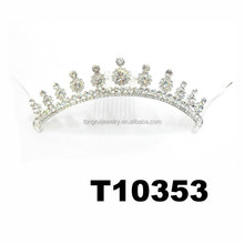 custom rhinestone beauty pageant crown with hair clip