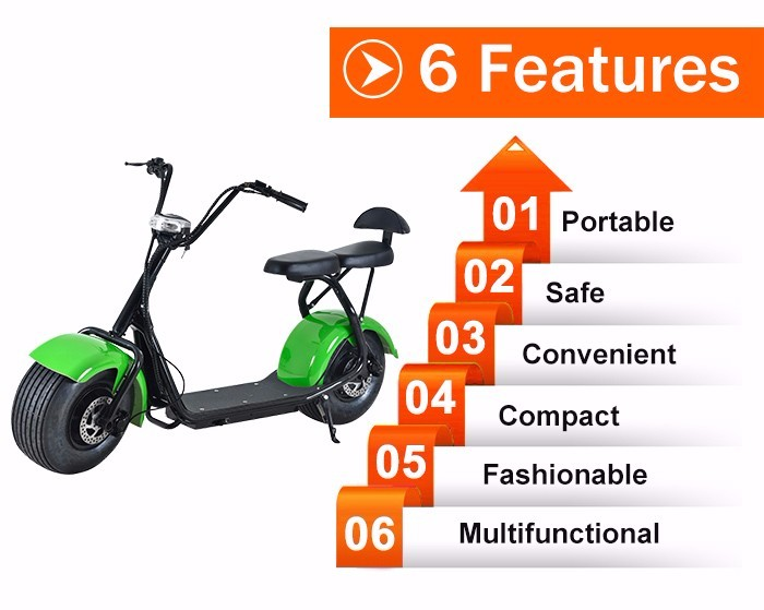 New style 60V 1000W electric scooter citycoco harley scooter 2 seats mobility scooter