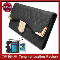 FLIP MAGNETIC WALLET DIAMOND BLING PU LEATHER CASE COVER FOR IPHONE 4G 4S 5G 5S