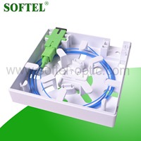 2 SC port fiber optic indoor connecting box | 86 type face plate