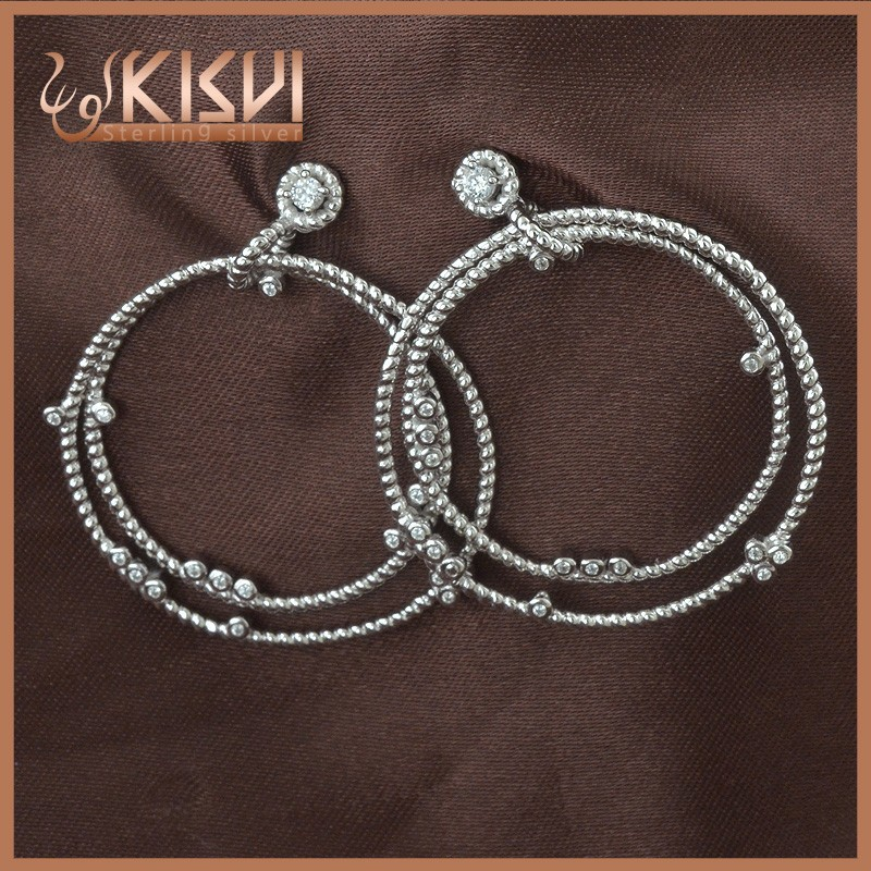 latest fashion new design hanging hoop earrings