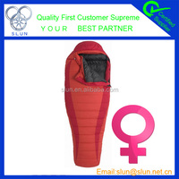2015 New design high quality duck down wholesale arctic mummy sleeping bag