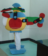 China manufacture giant airplane mascot cstume for adult airplane costume