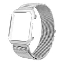 Changeable stainless steel magnetic apple watch band with case for apple watch 4