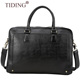 New arrival men leather executive briefcase vegetable tanned leather business trolley bags