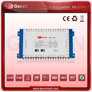 Gecen 2017 Multiswitch 16 output satellite multiswitch Cascadable Multiswitch MS-1716LC
