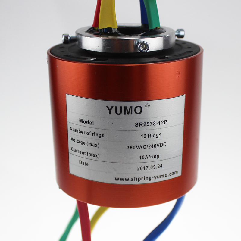 SR2578-12P YUMO Slip ring 12 rings 10A lectrical contacts with CE certificated Capsule Slip Ring