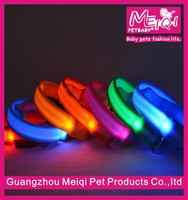 Simple nylon dog collars pet shop grooming products new design led dog collar