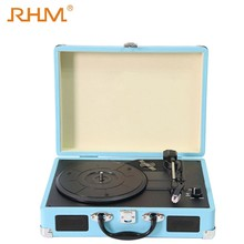 RHM hot sale retro gramophone vinyl turntable record player with USB