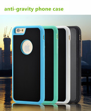 2016 wholesale arrival anti gravity case sticky Nanometer adsorption technology mobile phone case for iphone 7/7plus case