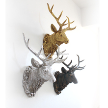 Roogo fragrance gift set sale bronze colour white-lipped deer head contemporary sculpture art wall hanging