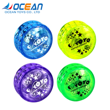 Small promotional toy children plastic yoyo ball double clutch lightning yo-yo for hot selling