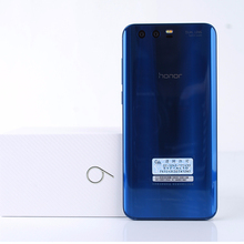 "Hot sale ! original huawei honor 9 Kirin 960 Octa Core AL00 5.15"" Android 7.0 1920*1080 3 Cameras Mobile Phone NFC OTG"