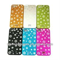 For iphone4/4s dot metal mobile phone case;phone cover