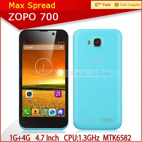 cheapest ZP700 New arrival ZOPO 700 MTK6582 4.7 Inch factory unlocked cell phones