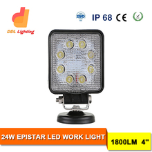 Top sale!18w 24w 25w 27w led work light for auto parts,cars,atvs ip67 led headlight