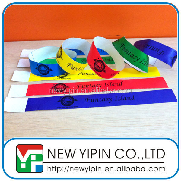 One Time Use Waterproof Inkjet Printed Tyvek Paper Wristband/Bracelet/Band For Events/Hotel/Movie Theater/Club/Christmas
