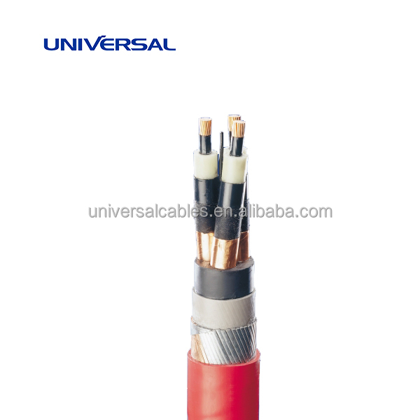 Steel Wires Armoured 3 Core Medium Voltage Power Cable