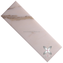 Best offer Calacatta gold customized bathroom wall cream marble tiles Honed
