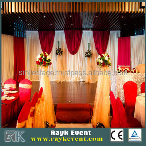 flexible portable pipe and drape systems wedding stage backdrop