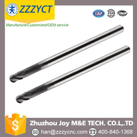 zhuzhou China 4/2flute ball end mill with diamond coating