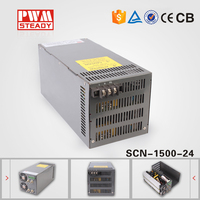 High voltage 110v 220v ac dc 24v 62.5a led smps 1500w industrial switching power supply with parallel funtion scn-1500-24