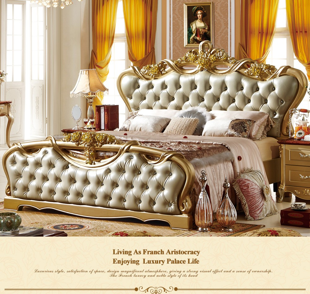 312 2017 modern double royal french baroque rococo for Cheap baroque style furniture