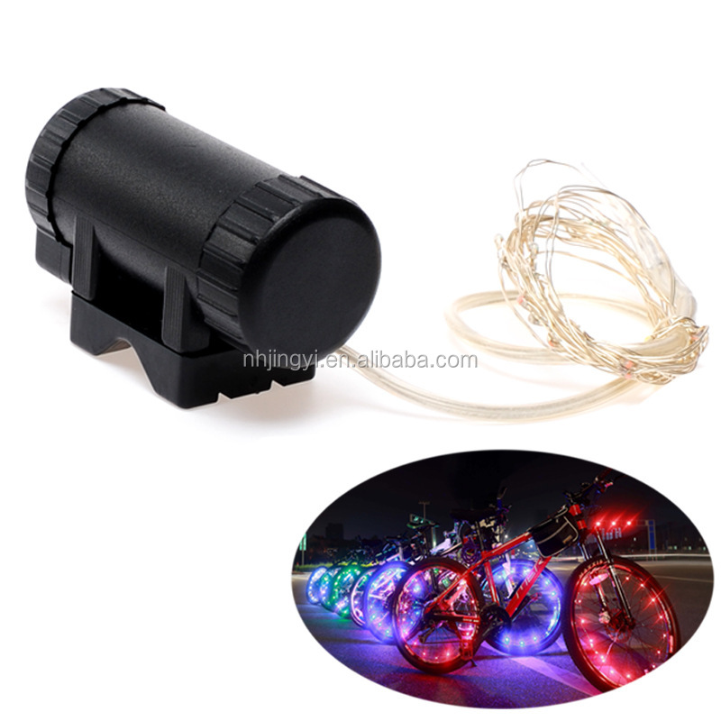 colorful changing LED for bicycle circle bike waterproof rechargeable wheel light