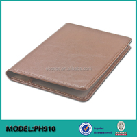 Custom PU or real leather passport holder cover case