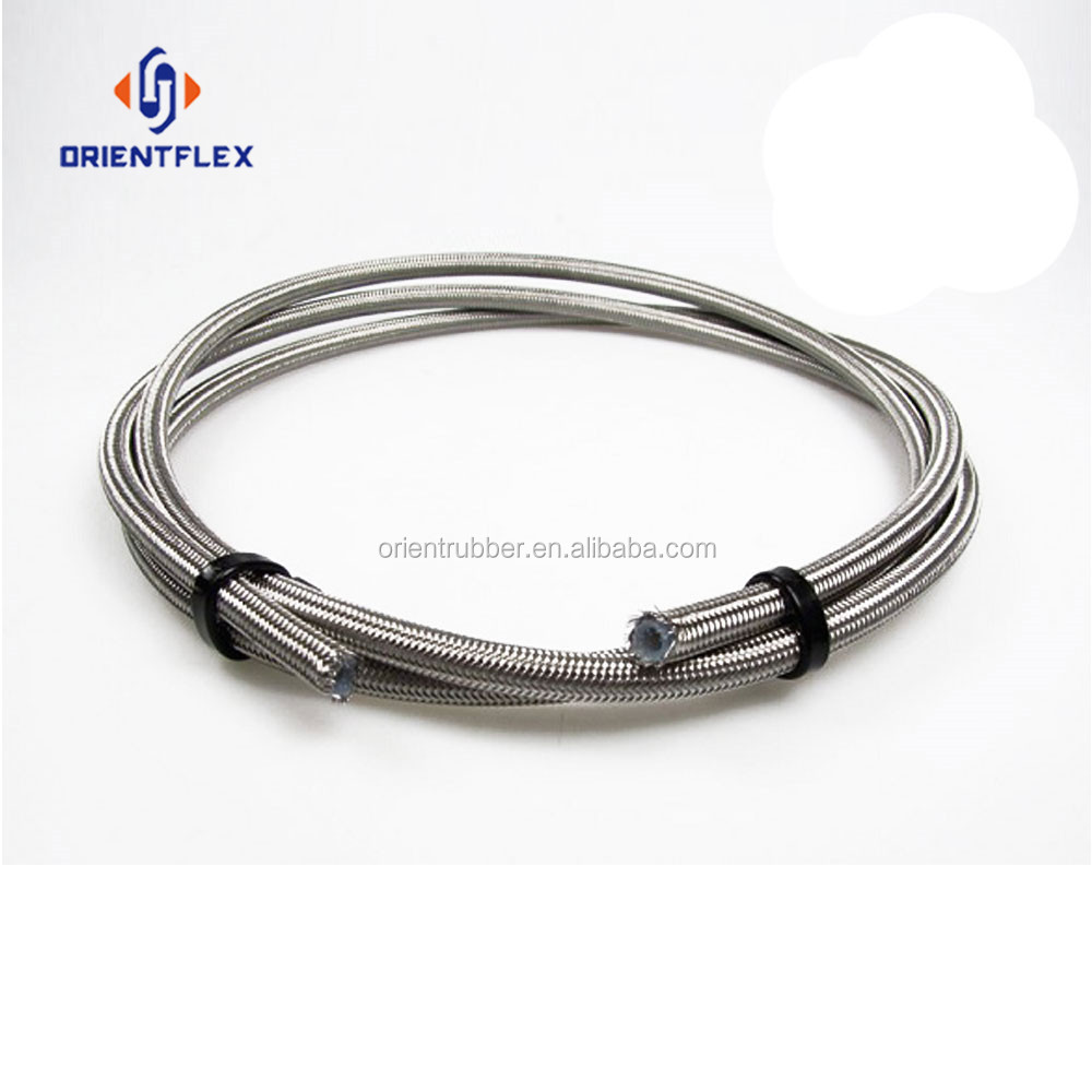 Guaranteed quality flex heat-resistance stainless steel braided rubber hose factory supplier