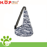 Dark Blue Letter Pattern Oxford Cloth Portable Pet Cross-body Bag Pet Carrier