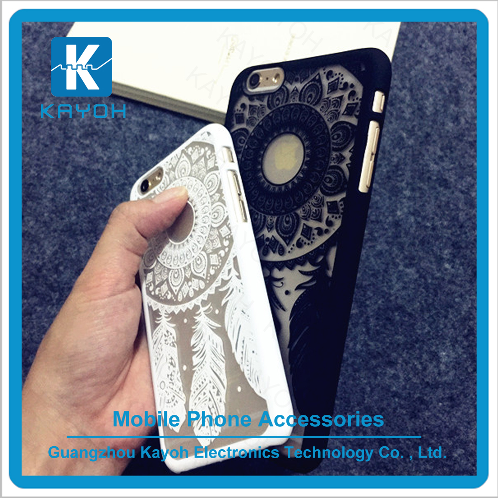 [kayoh] New Fashion Retro feather Phone Case Hard PC Back Cover for iPhone 5 5S 6 6S 6Plus