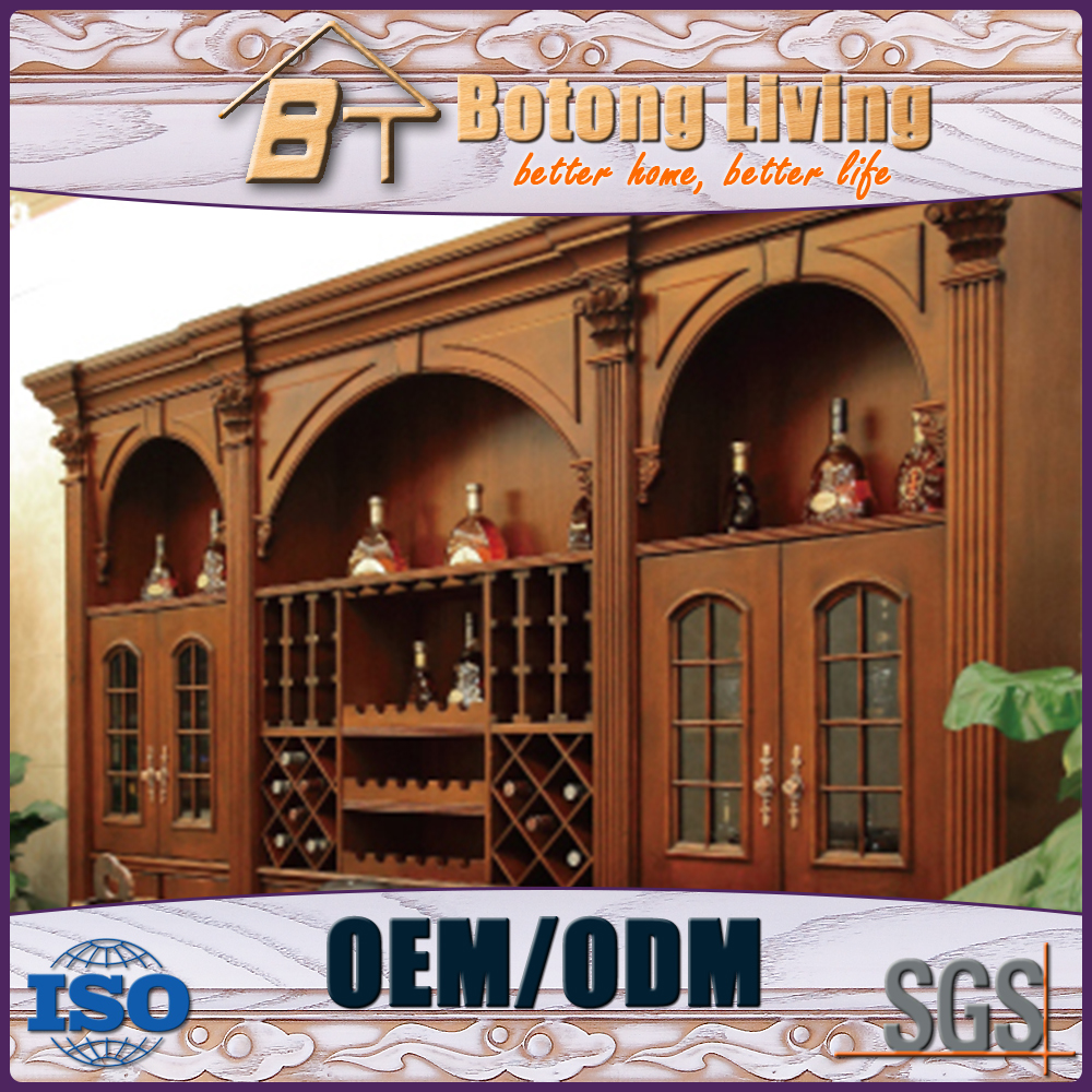 Botong Living DC65 high quality antique bar unit wooden wine side board