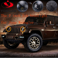 NEWEST!7 inch 65w headlight for JEEP wrangler Dragon edition distance light LED headlight assembly