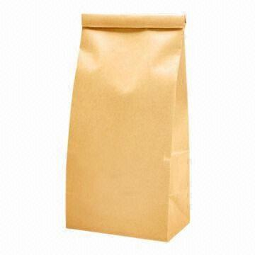 Food grade stand up kraft paper bag for milk powder packaging