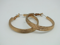 Fashion Exaggerated Big Gold Bamboo Hoop Earrings Personalized, Simple Gold Earring