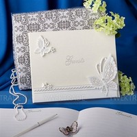 Butterfly Resin Wedding Accessory Guest Book